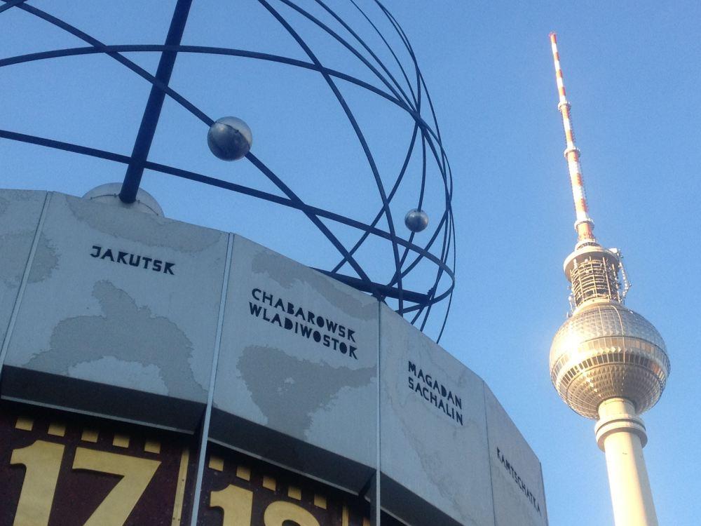 Bild: Weltzeituhr am Alexanderplatz